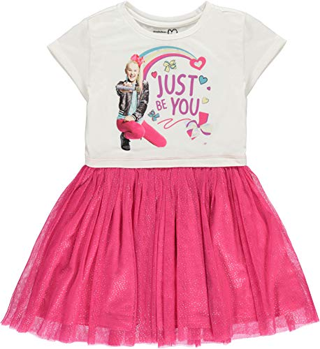 JoJo Siwa Girls' Tutu Dress with Tulle Skirt - Nickelodeon (M-7/8)