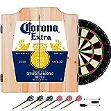 Trademark Gameroom Corona Extra Dart Board Set with Cabinet - Label - by Corona