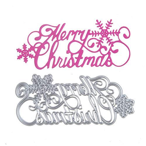 Merry Christmas Alphabet Metal Cutting Die Stencil Template Christmas Birthday Wedding DIY Crafts Scrapbook Album Paper Card Handmake Embossing