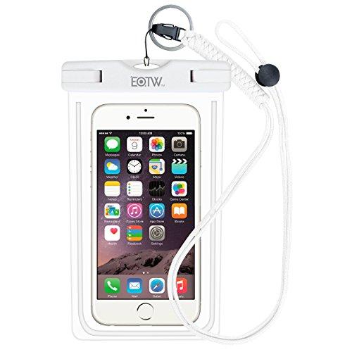 wasserdichte Handyhülle IPX8 Tasche - EOTW wasserdichte Handy hülle kompatibel für iPhone 12/11 Pro Max Samsung S21/S20/A51/A71 Huawei Segeln Zubehör Smartphone Universal Umhängetasche (White)
