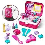 GizmoVine Prinzessin Rollenspiel Schminkset ,Schminkset kinderfön ,Spielzeug Schminksachen Schönheit Koffer Umhängetasche für Kinder Mädchen für 2 3 4 5 Jährige Kinder (Schminkset) -