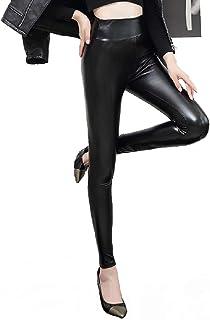 e7aa9bf876 heekpek Leggings En Similicuir Pour Femme Jambières à Taille Haute Doublées  De Polaire Chaude Et Épaisse