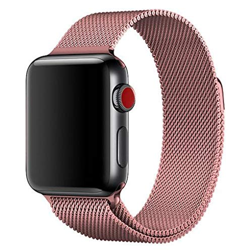 123Watches.nl - Apple watch milanese band - rose rood - 38mm en 40mm
