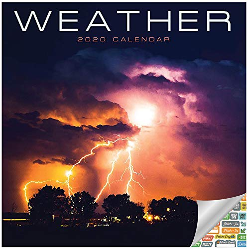 Weather Calendar 2020 Set - Deluxe 2020 Wild Weather Wall Calendar with Over 100 Calendar Stickers (Nature Gifts, Office Supplies)