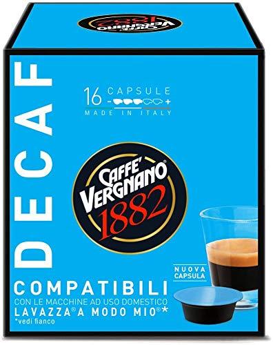 128 Capsule Decaffeinato Caffè Vergnano Compatibili Lavazza A Modo Mio - 8 confezioni da 16 capsule. Dek