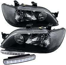 2002 2003 Mitsubishi Lancer Crystal Black Headlight Assembly