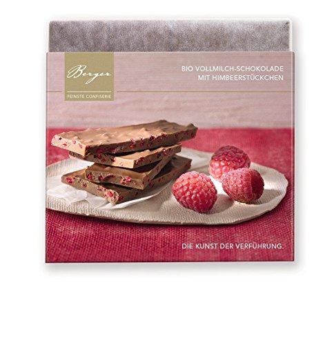 Berger Bio Vollmilch-Schokolade mit Himbeerstückchen 90 g