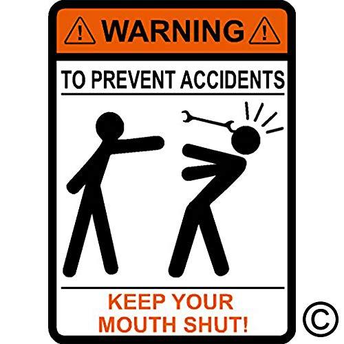내가 만드는 데칼 경고 사고를 방지하기 위해 입 다물 렌치 기계 비닐 차 스티커