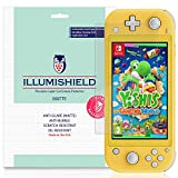 iLLumiShield Matte Screen Protector Compatible with Nintendo Switch Lite (5 inch, 2019)(3-Pack) Anti-Glare Shield Anti-Bubble and Anti-Fingerprint PET Film