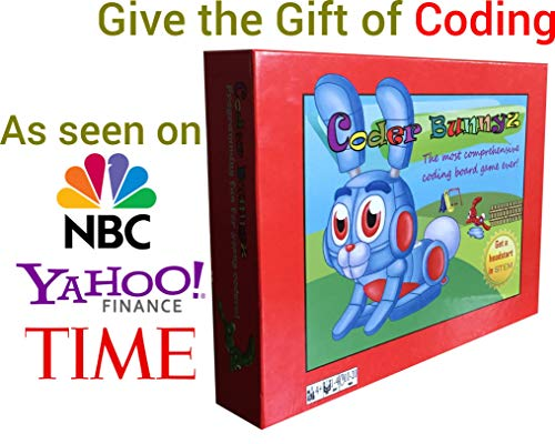 CoderBunnyz - The Most Comprehensive STEM Coding Board Game Ever! Learn All The Concepts You Ever Need in Computer Programming in a Fun Adventure. Featured at TIME, NBC, Sony, Google, Maker Faires!