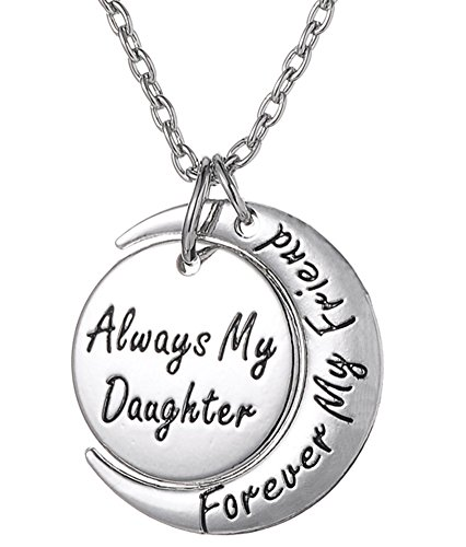 Daughter Necklace ''Always My Daughter Forever My Friend'' Necklace