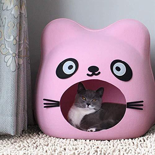 WSJF Cama For Gatos Mascotas Cama Casa Agujero Bolso Cómodo Gato Casa For Gatos Y Estilo Cachorro Viaje Al Aire Libre Mascota Gato (Color : Pink)