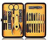 15 Unids/Set Art Beauty Tools Sets Tijeras De Pedicura Kit De Pedicura De Manicura Tijeras De Uñas Kit De Aseo Con Estuche Kits De Arte De Uñas De Oreja 16 X 8 X 2.5cm