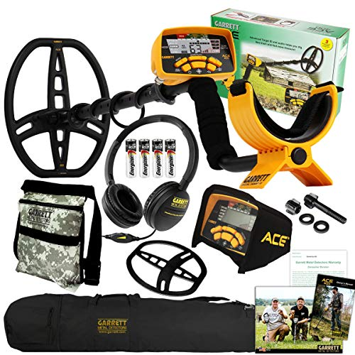 Garrett ACE 400 Metal Detector with ClearSound Headphones, Pouch, and Carry Bag