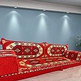 Spirit of 76 Sofá modular de suelo sofá conjunto majlis asientos bohemios muebles bancos cojines / SHI_FS251
