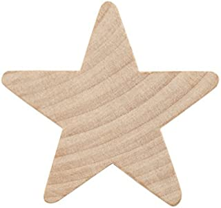 1-1/2 Inch Wood Star, Natural Unfinished Wood Star Cutout Shape (1-1/2 Inch) (Bag of 50) by Woodpeckers