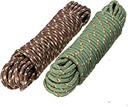 Clothes Nylon Braided Cotton Rope (20 m, Multicolour) - Pack of 2 pcs