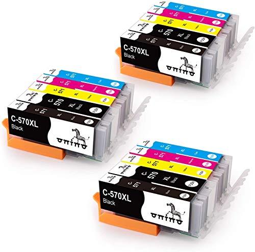 ONINO Sostituzione per Canon PGI-570XL CLI-571XL Cartucce d'inchiostro PGI-570 CLI-571 per Canon PIXMA MG5750 MG6850 TS5050 TS6050 TS6051 MG5700 MG6800 MG5751 TS6052 MG6851
