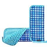Homelove - Bolsa de paraguas absorbente con cierre de cremallera, forro de tela, secado rápido, bolsa de almacenamiento para paraguas portátil
