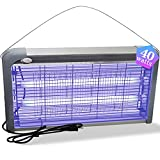 Jmxu's Electric Bug Zapper, 40w Mosquito Zappers Killer Power Grid Fly Killer, Insect Fly Traps Electric Shock Bug Catcher Mosquito Light Bulb for Indoor, Backyard, Patio