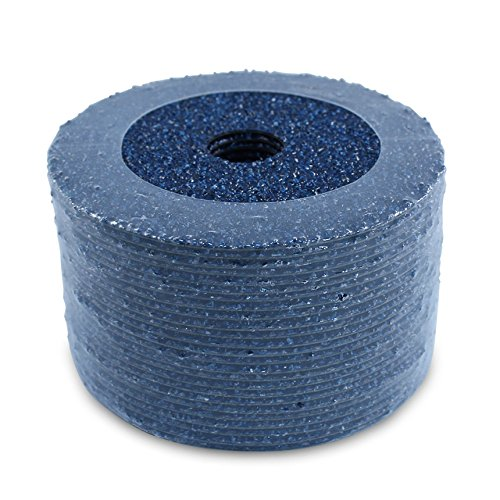 "BHA Zirconia Resin Fiber Grinding and Sanding Discs, 5"" x 7/8"", 24 Grit - 25 Pack"