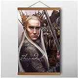 chtshjdtb Das Hobbit-Plakat Der König Thranduil Wandkunst Leinwanddrucke für Wohnzimmer Teakholz Schriftrollen Gemälde Dekor Geschenk Kunstwerk