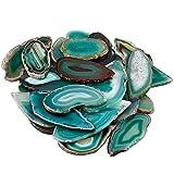 Mookaitedecor 10 ciondoli in agata per la creazione di gioielli, cristalli geode e pietre preziose per la guarigione, Pietra, Verde, 1.7 - 3.1 Inch