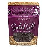 SaltWorks El Dorado Mesquite Smoked Sea Salt, Artisan Zip-Top Pouch, 4 Ounce