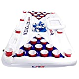 Play Platoon H2PONG Inflatable Beer Pong Raft With Cooler, Includes 5 Ping Pong Balls - Floating Pool Party...