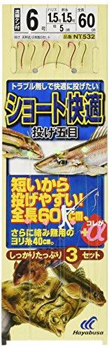 ハヤブサ(Hayabusa) 投げ釣り+a ショート快適 2本鈎3セット NT532 6-1.5