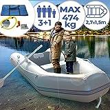 Jago Schlauchboot für 3 Personen - 270x152cm, 2...