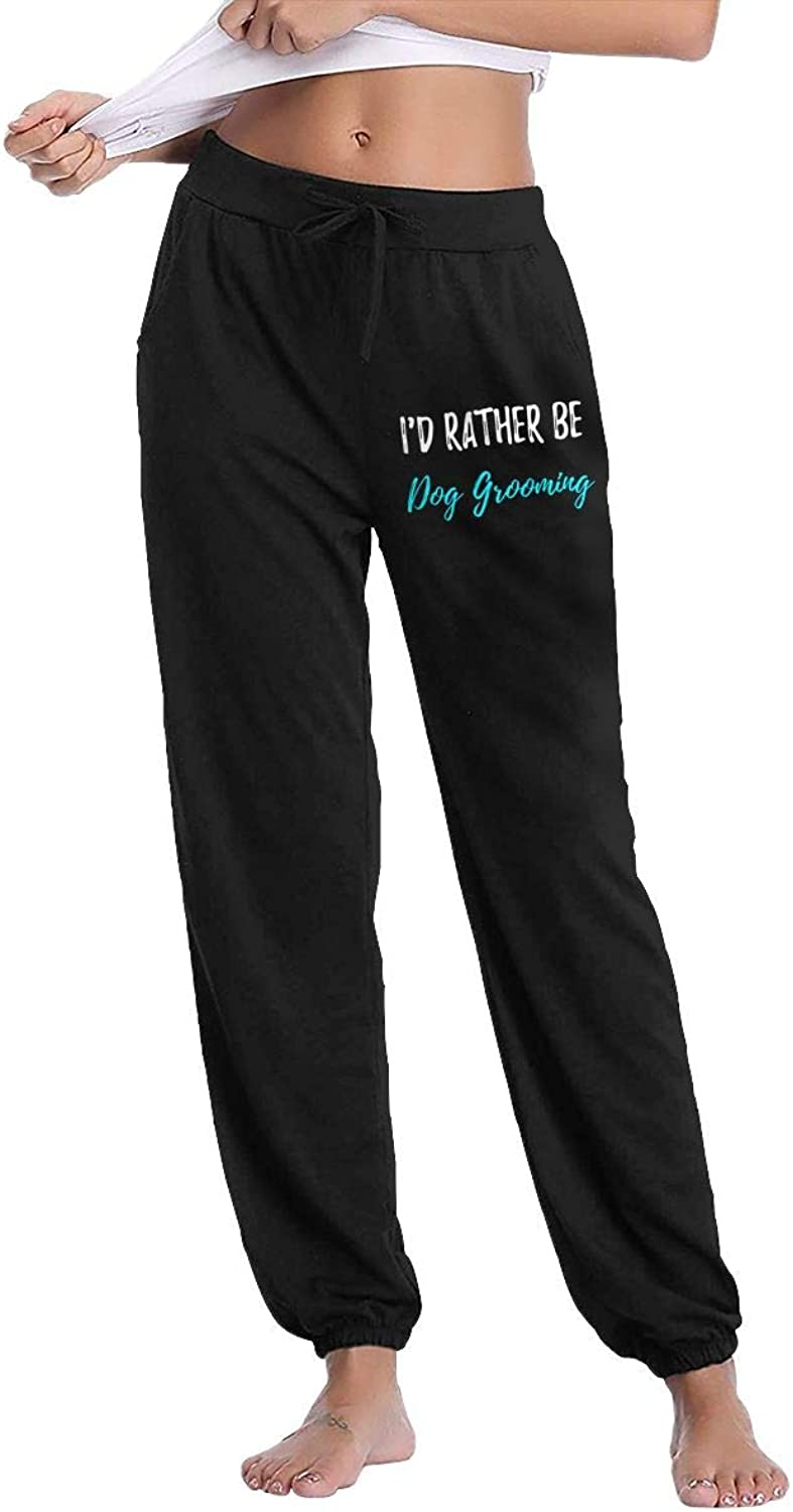 Meamyezz Women's Rocking The Yorkie Mom Life Gym Workout Track Pants Pockets