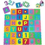 TecTake Kinderteppich Spielmatte Lernteppich Puzzlematte 86 TLG. ca....