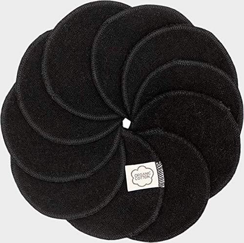 Imsevimse Abschminkpads 10er Pack Ökotex100 (schwarz)