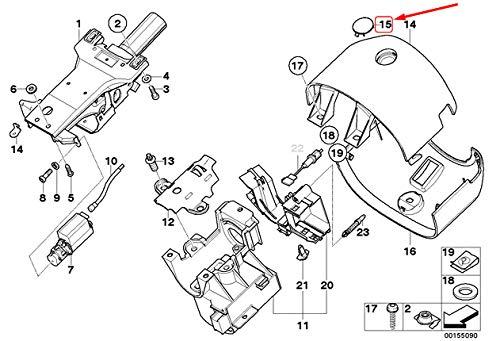 GTV INVESTMENT Z8 E52 Lenksäule Blende Abdeckung 32316750986 Neu Original
