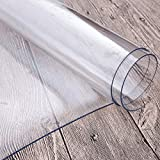 Anladia Tischdecke Tischfolie Schutzfolie Tischschutz Folie 2mm transparent 100x200cm - 3