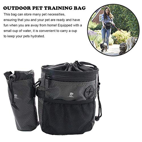 Read About MEIZHIYUE Dog Snack Bag Outdoor Training Bags Puppy Pouch Walking Food Treat Snack Bag Ag...