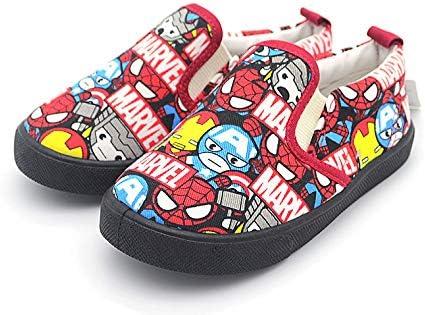 Marvel Kid Shoes Boy Spider-Man Loafer Student Canvas Slip-on Sneaker Cartoon