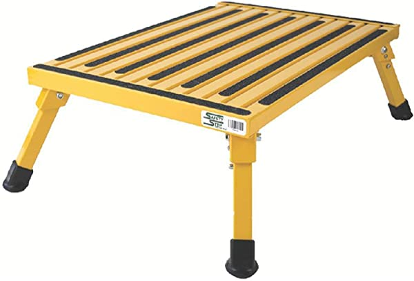 Safety Step XL 08C Y Yellow X Large Folding Recreational Step Stool