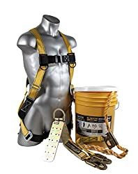 "Perfect set for home fall protection gear Universal harness HUV (01101) with 5 points of adjustment for added comfort.Body Wear Velocity Harness (S - L) Vertical Lifeline Assembly with Shock Pack, and permanently attached Positioning Device with 18"" ..."