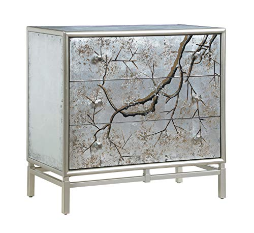 Coast To Coast Imports 29.5 in. 3-Drawer Chest in Silvermist Winter Forest Finish
