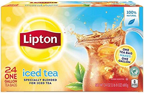 Lipton Gallon Size Tea Bags - Iced Tea Brew - 1 oz - 24 Count