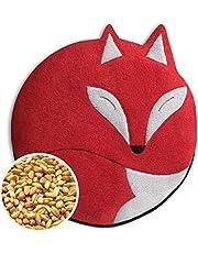 Leschi VÄRMEKUDDE för rygg och mage/för mikrovågsugn och ugn/kornkudde med vete för bebisar, barn och vuxna/Värmedjur: Räven Luca