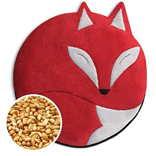 SACO TÉRMICO Leschi de semillas para microondas/para el dolor de estómago/Animal: Zorro Luca, rojo