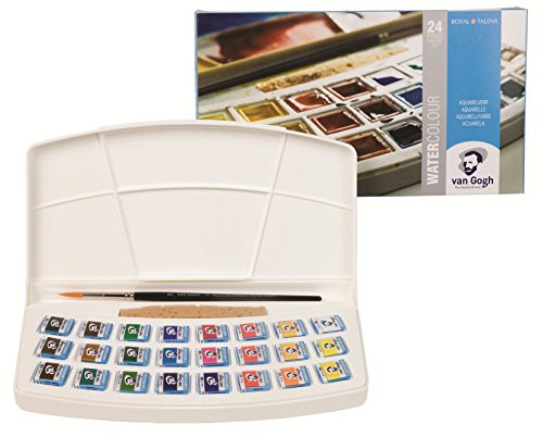 24 color set plastic case case Van Gogh watercolor solid (japan import)