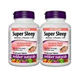Webber Naturals Super Sleep Melatonin Plus L-Theanine & 5-HTP, 90 Soft-melt Tablets (2)