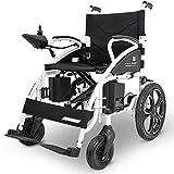 Silla de ruedas, silla de ruedas eléctrica, moderna inteligente 360 grados;Joystick Plegable Empuje manual / Eléctrico Duradero Exterior para ancianos Inhabilitado Silla de ruedas eléctrica de cua