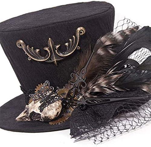 APJJ Fashion Hanf Feder Headdress Bankett Ball Hair Accessoires Halloween Hat