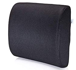 Lumbar support cushion for sciatica relief at work