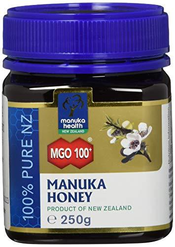 Manuka Health - Manuka Honig MGO 100 + (250g) - 100% Pur aus Neuseeland mit zertifiziertem Methylglyoxal Gehalt